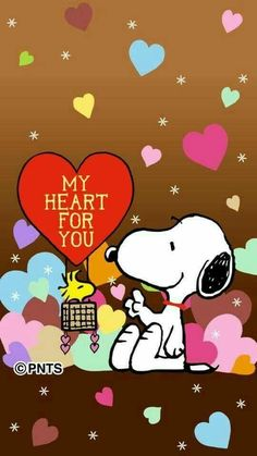 My Heart For You - Snoopy and Woodstock Sitting Among Many Hearts Snoopy Love, Snoopy And Woodstock, Peanuts Cartoon, Peanuts Snoopy, Cartoon Wall, Cute Cartoon, Snoopy Wallpaper, Iphone Wallpaper, Snoopy Valentine