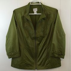 Green #Zenergy by #Chicos #Lightweight #Jacket. Size 8/10. SOLD