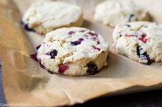 Strawberry-blueberry scones made with coconut milk [Vegetarian] : http://www.treehugger.com/easy-vegetarian-recipes/strawberry-blueberry-scones-made-coconut-milk-vegetarian.html