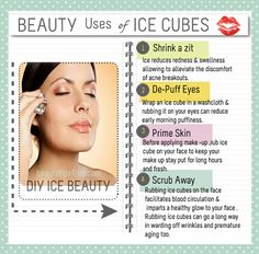 Using ice cubes for your cold drinks and your favorite beverages all the time is normal . But do you know that ice is packed with beauty benefits that works like magic? #beautytips, #skincare