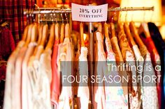 Tips for THRIFTING IN WINTER - items and tactics!