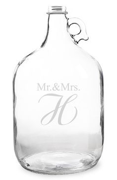 Cathy's Concepts 'Mr. & Mrs. - Wedding Wishes in a Bottle' Gallon Growler Guest Book - White