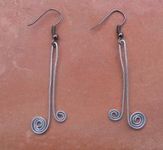 wire earrings.  Very simple but cute.