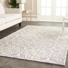 Safavieh Handmade Moroccan Cambridge Lavender Wool Rug (5' x 8') - Overstock™ Shopping - Great Deals on Safavieh 5x8 - 6x9 Rugs