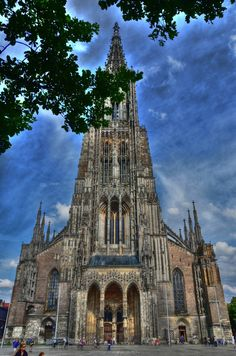 Ulm Cathedral (the highest church tower in the world) Germany I have been to see this church!  words and this picture do not do this church justice!! Very impressive!