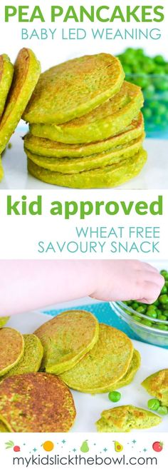 Mini pea pancakes, perfect for baby led weaning,  packed with peas, oats and protein, perfect for savoury snack for kids