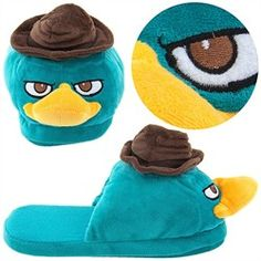 Perry the Platypus Slippers for Men Funny Slippers, Superman, Batman, Perry The Platypus, Phineas And Ferb, Angry Birds, Looney Tunes, Scooby Doo, Shoe Boots