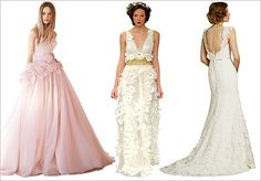 Wedding dress trends for 2012
