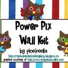 This Power Pix Wall Kit with an Owl Theme includes a picture of my Power Pix Wall for easy set up.  Posters, numbers, and letters to create a grid ...
