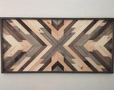 Arte de pared de madera reciclada, arte madera, decoración de la pared, decoración de madera, decoración rústica de madera, casa decoración, decoración Azteca