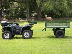 Anyone make or have plans for ATV trailer? - WeldingWeb™ - Welding forum for pros and enthusiasts Quad Trailer, Off Road Camper Trailer, Trailer Diy, Trailer Plans, Trailer Build, Lawn Tractor Trailer, Atv Utility Trailer, Utv Trailers, Custom Trailers
