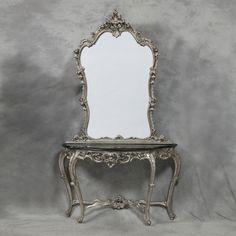 large-ornate-louis-xv-antique-style-silver-console-table-mirror-was-690-4845-p.jpg (800×800)