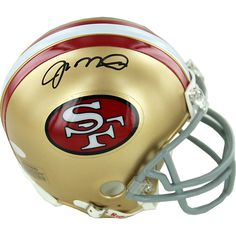Joe Montana Signed San Francisco 49ers Replica Mini Helmet - 49ers Legend Joe Montana has personally hand-signed this San Francisco 49ers Replica Mini Helmet-Montanas ability to maintain a calm nature about him in key moments earned him the nickname Joe Cool. Montana started his NFL career in 1979 with the San Francisco 49ers where he played for the next 14 years of his career. Seen as the face of the 49ers Montana led them to four Super Bowls and won three Super Bowl MVPs. He is the only…