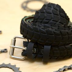 re purpose a bike tire into a belt    tire recycling