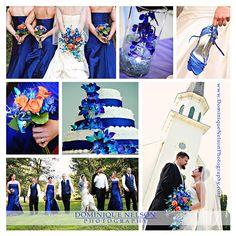 sapphire blue wedding... but minus the orange
