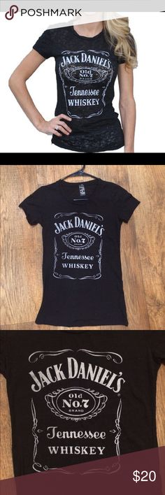 🖤 Jack Daniels Rock Punk Burnout Tee Shirt Top This Jack Daniels burnout tee is super cool! Its lightweight & fitted, it would fit a size S and an XS! It's only been worn once & is in excellent condition! I have other tops & dresses in similar styles & sizes, check out my closet! & thanks for looking! :) Jack Daniels Tops Tees - Short Sleeve