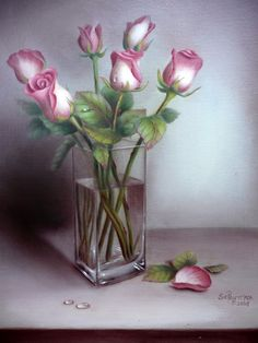 Spring Floral - Acrylics by artist Sue Pruett, MDA