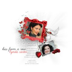 Lynda Carter Kiss from a rose, created by janeaustenaddict on Polyvore