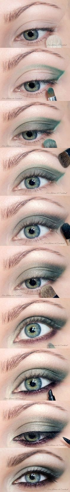 Emerald Smoky Eye Shadow Makeup Tutorial