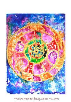 Mandala Sugar Paintings – The Pinterested Parent