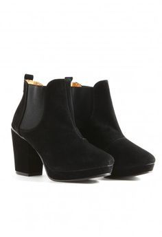 Jaidyn Leather Heeled Chelsea Boots- footwear- missguided