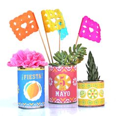 Printable tin can labels - Mexican DIY templates + ideas!
