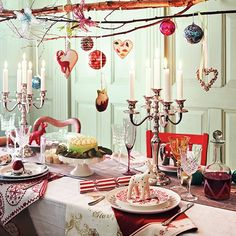 Wonderland setting l Christmas table ideas | Dining room | PHOTO GALLERY | Style at Home | Housetohome