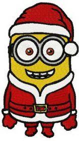 Christmas minion machine embroidery design. Machine embroidery design. www.embroideres.com