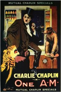Theatrical poster for the 1916 silent film One A.M.