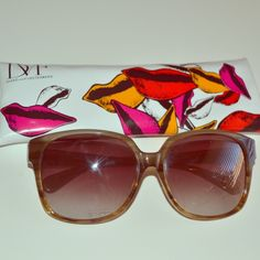 Diane von Furstenberg Sunglasses In great condition. Comes with case. They are stretched a bit so best if you have a bigger head or you can take them to a sunglasses shop and get them tightened. Diane von Furstenberg Accessories Sunglasses