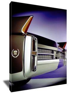 "1963 Cadillac Tail lights 16 x 20"" Canvas"