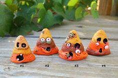 Mini Zombie Candy Corn Pendant Ornaments by mirandascritters, $8.00