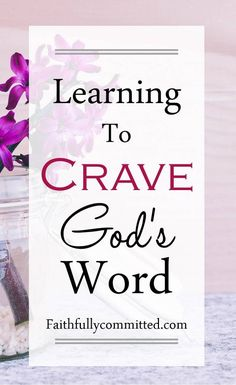 Teaching Yourself To Crave God's Word