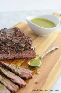 Grilled Tri-Tip with Sicilian Herb Sauce - A Healthy Life For Me