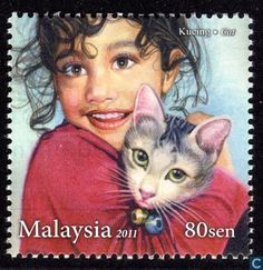 Postage Stamps - Malaysia - Haustiere für Kinder