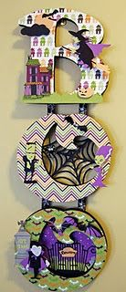 """My """"BOO"""" sign made with Echo Park Papers Happy Halloween line and my Cricut!"""