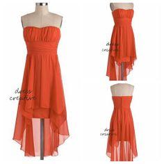 Sweetheart HighLow Style Short Bridesmaid Dress by DressCreative, $88.00