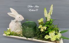 Table Decorations, Home Decor, Miniatures, Gardens, Crochet Owls, Letter Case, Faux Flowers, Floral Headdress, Bunny
