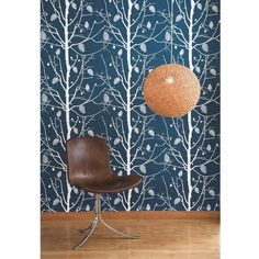 ferm LIVING Family Tree Wallpaper, Petrol : Gifts and Accessories from Scandinavia Family Tree Wallpaper, Tree Wallpaper Blue, Ferm Living Wallpaper, Lit Wallpaper, Modern Wallpaper, Wallpaper Ideas, Modern Kids Decor, Funky Home Decor, Modern Wall Decor