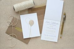 Anastasia's Glitter + Gold Birthday Party Invitations