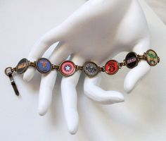 Avengers Icon Bracelet Oxidized Brass by VintageVir2 on Etsy  Awesome Stuff from a very talented friend. :)