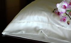 Silk Pillowcase Standard Size Soft White Silk by AdorabellaBaby, $42.50
