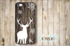 Wood Print Stag Monogram Personalized iPhone 4/4s/5/5s Case,Wood Print Stag Samsung Galaxy s3/s4 Phone Cover,Animal Initials Monogrammed on Etsy, $12.99