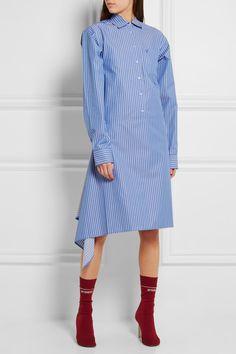 Vetements | Pinstriped cotton-blend poplin shirt dress | NET-A-PORTER.COM
