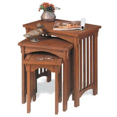 Have to have it. Powell Mission Oak Nesting Table $189.00