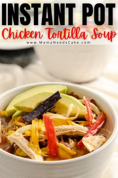 This dump and start Instant Pot Chicken Tortilla Soup is perfect for Instant Pot beginners or for seasoned users! #dumpandstart #instantpotrecipes #chickentortillasoup #tortillasoup #copycatrecipe #chickfila #quickdinner #30minutemeal #soup #easysoup