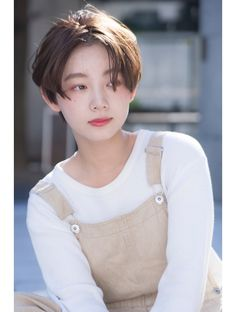 Color Natural Brown x Center Part: | Taylor Hair Catalog | Hot Pepper Beauty in 2020 Short Hair Tomboy, Asian Short Hair, Girl Short Hair, Short Hair Cuts, Japanese Short Hair, Girl Hair, Tomboy Hairstyles, Pixie Hairstyles, Cool Hairstyles