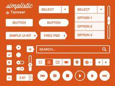 Simplistic, Worlds MOST simple UI kit. Via: http://drbl.in/esty