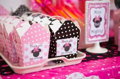 Minnie Mouse Birthday Party boxes