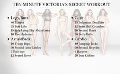 Victoria's secret body workout...really works..leaves you sweating and feeling…